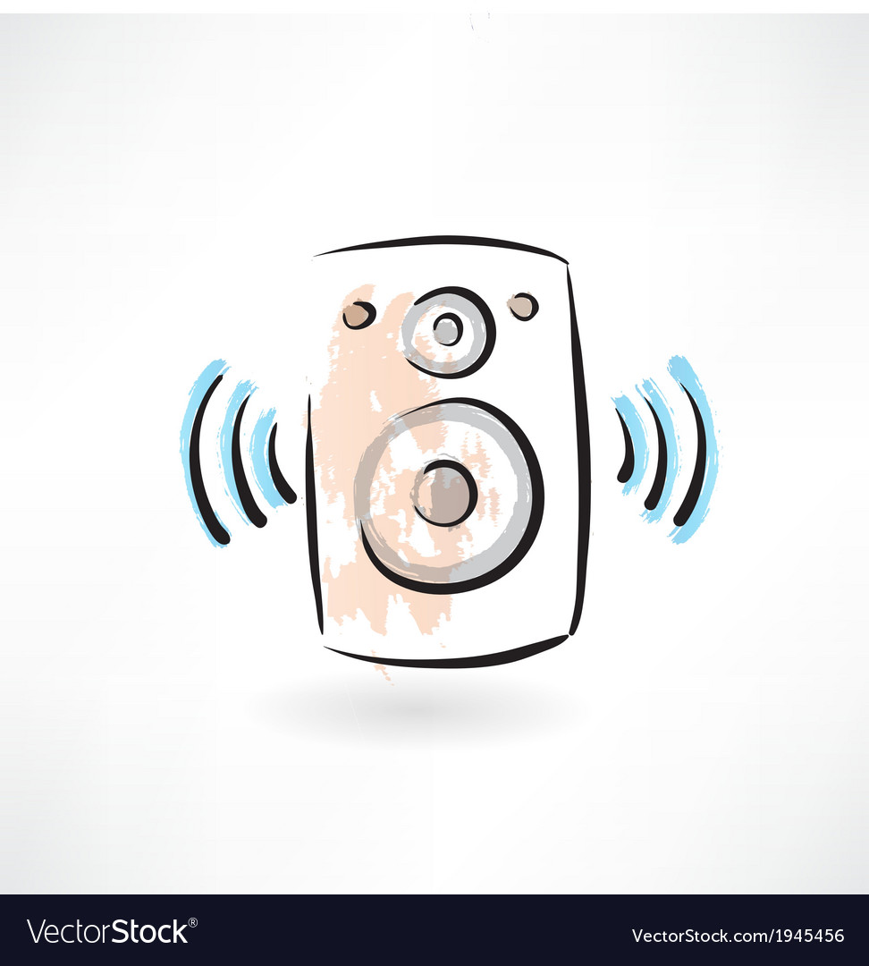 Music column grunge icon vector | Price: 1 Credit (USD $1)