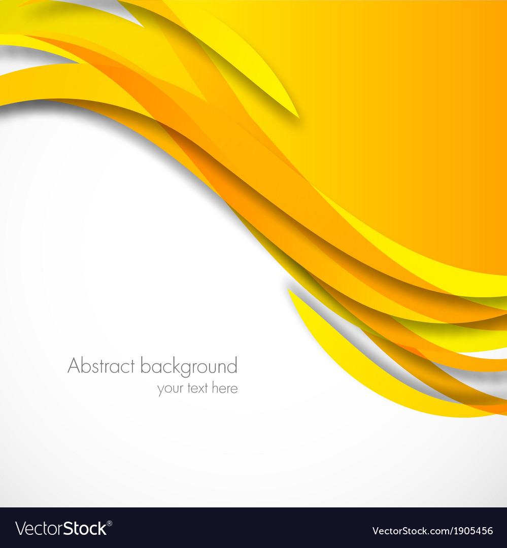 Orange wavy background vector | Price: 1 Credit (USD $1)