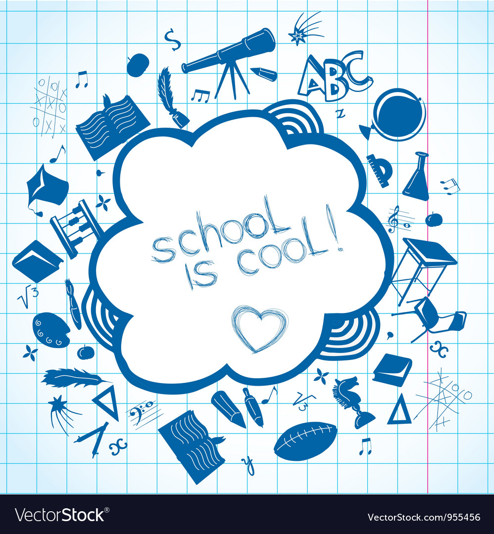 School accessories background vector | Price: 1 Credit (USD $1)