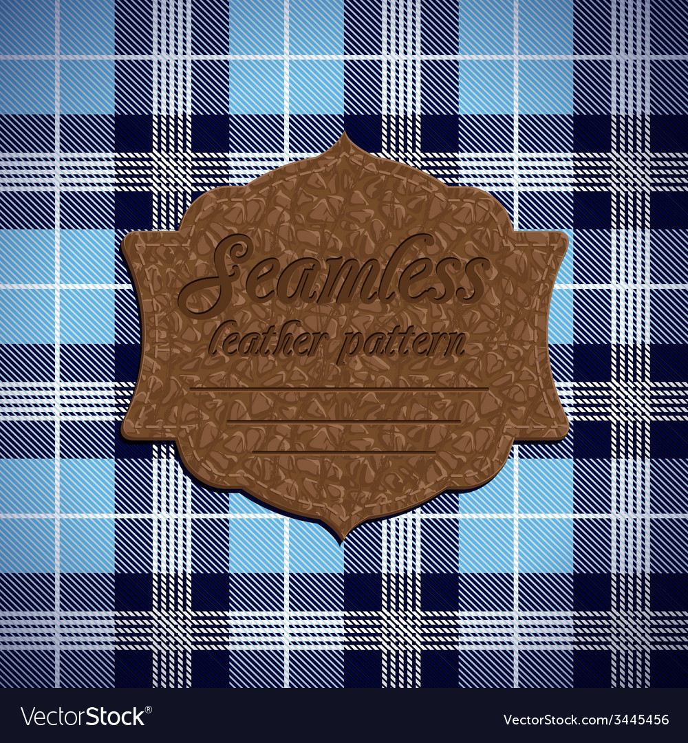 Seamless tartan pattern and label with seamless vector | Price: 1 Credit (USD $1)