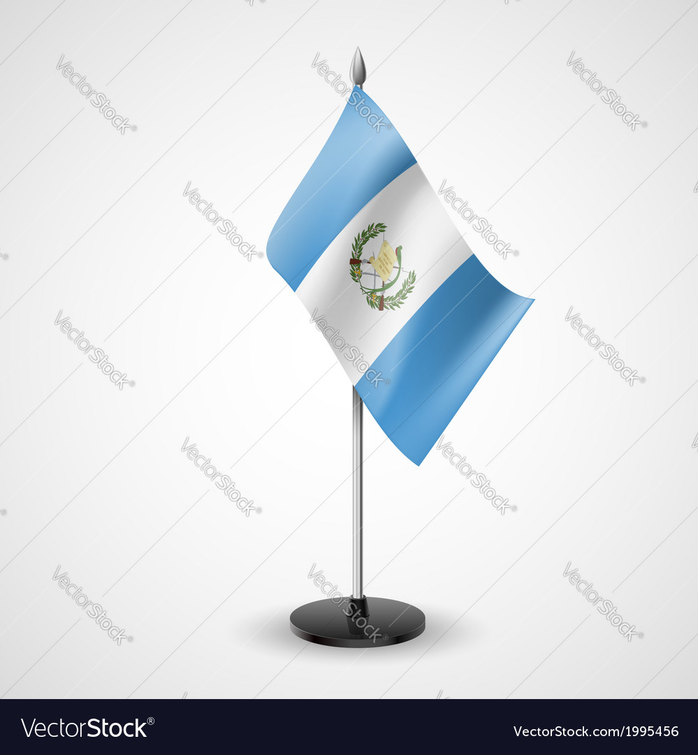Table flag of guatemala vector | Price: 1 Credit (USD $1)