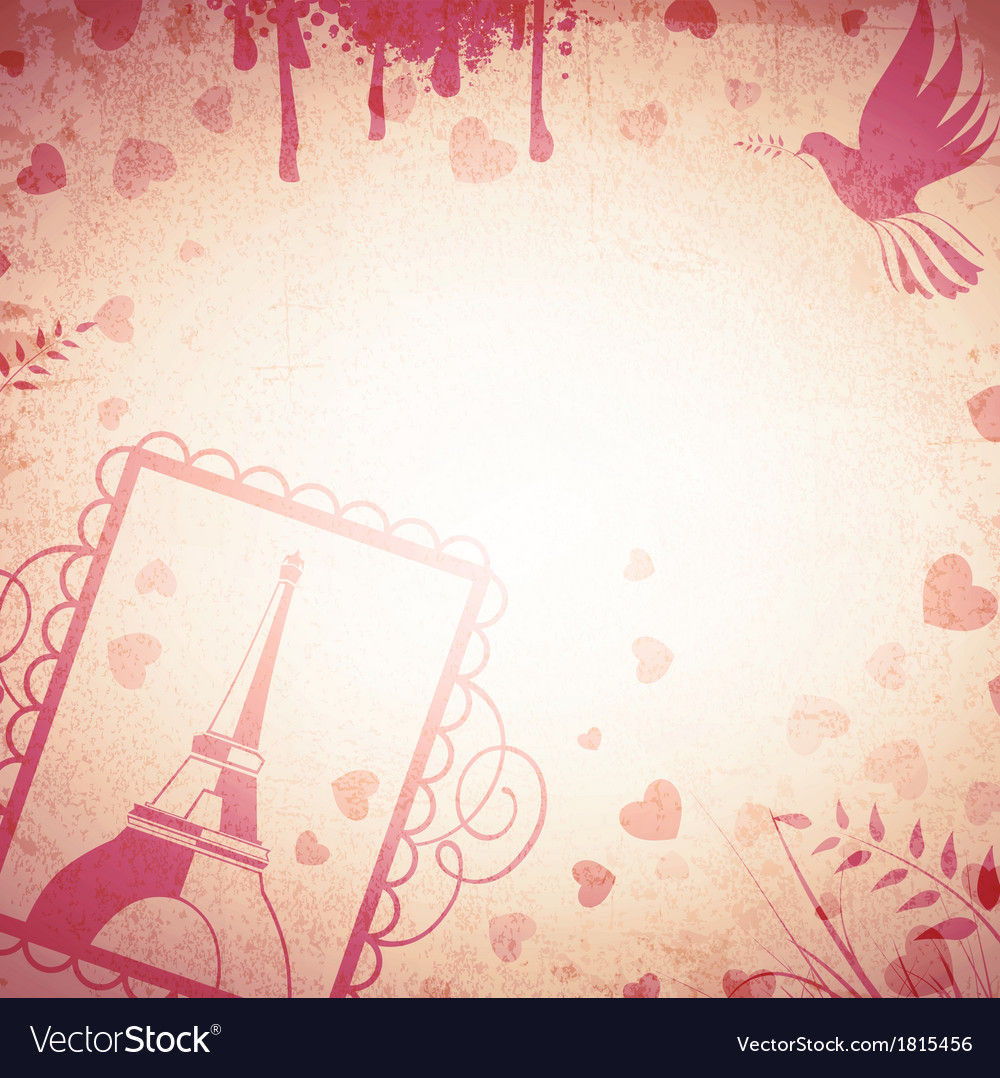 Vintage romantic background vector | Price: 1 Credit (USD $1)