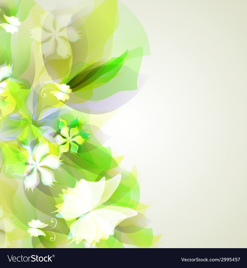 Abstract artistic background with yellow and green vector | Price: 1 Credit (USD $1)