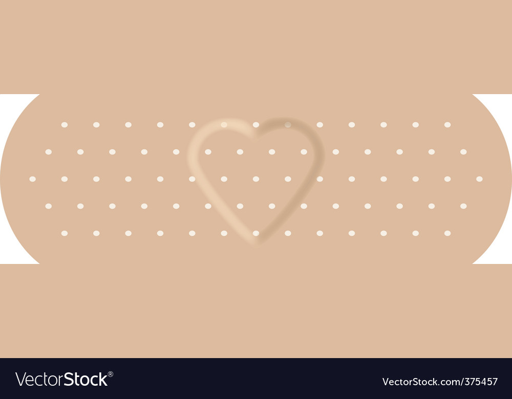 Adhesive bandage with love vector | Price: 1 Credit (USD $1)