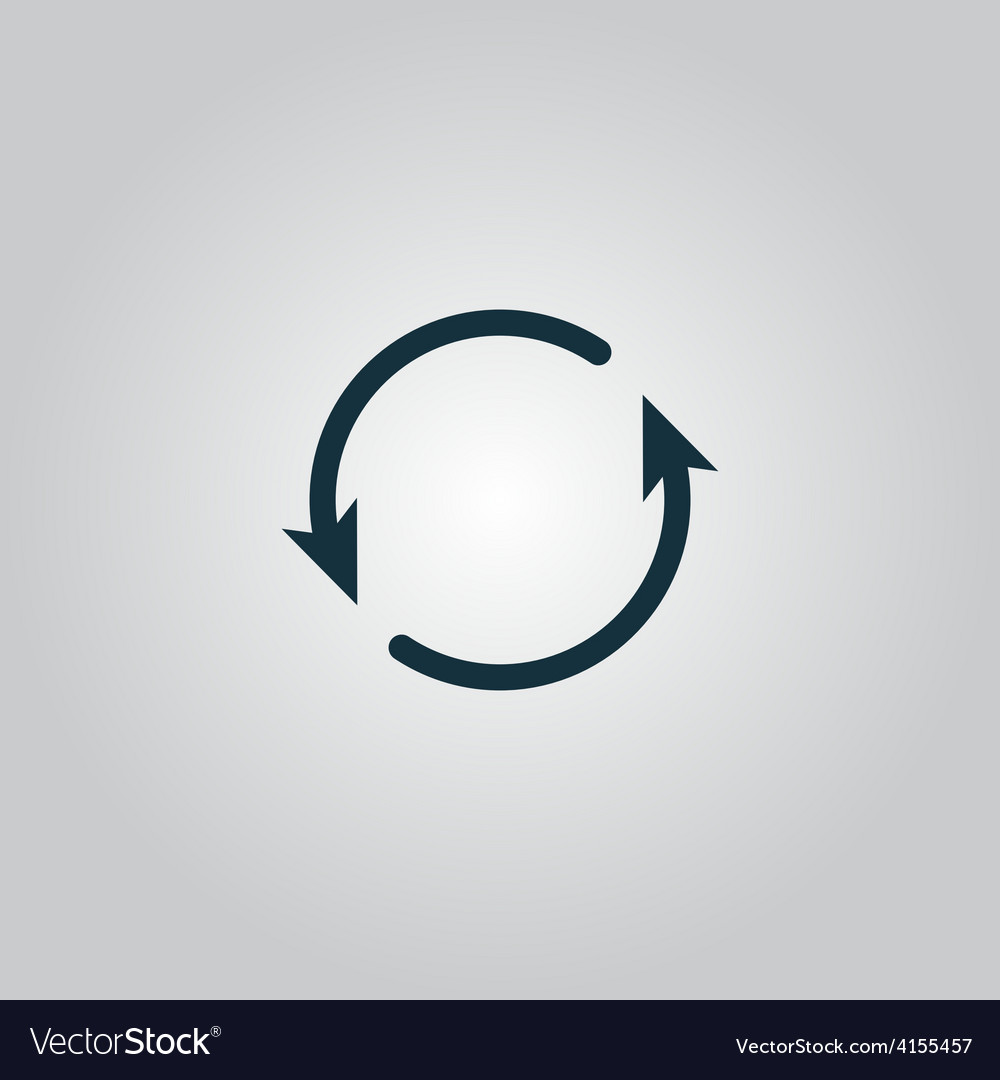 Arrow circle icon - cycle loop roundabout vector | Price: 1 Credit (USD $1)