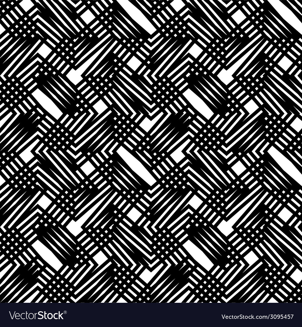 Black and white stripes geometric seamless pattern vector | Price: 1 Credit (USD $1)