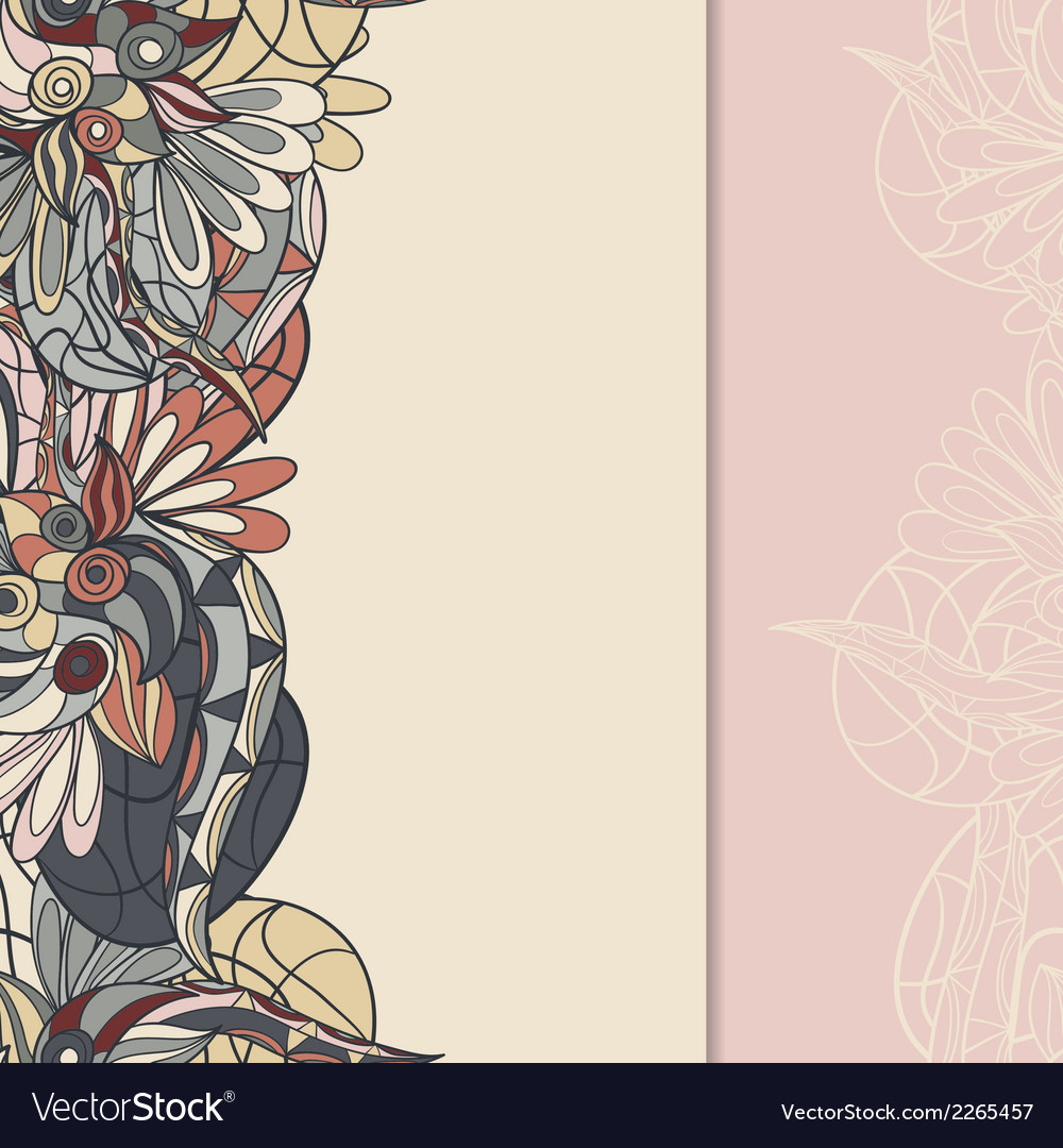 Border with abstract hand-drawn pattern vector | Price: 1 Credit (USD $1)