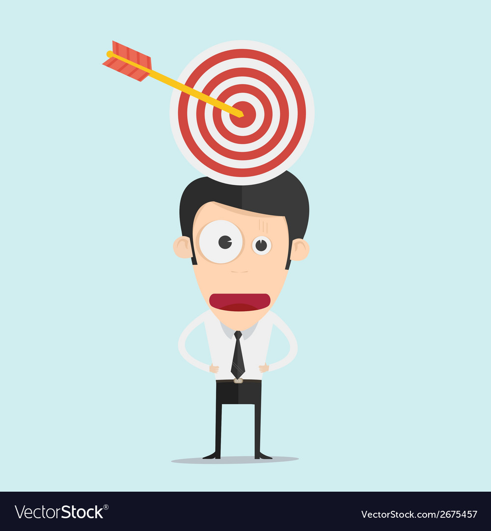 Businessman and target concept vector | Price: 1 Credit (USD $1)