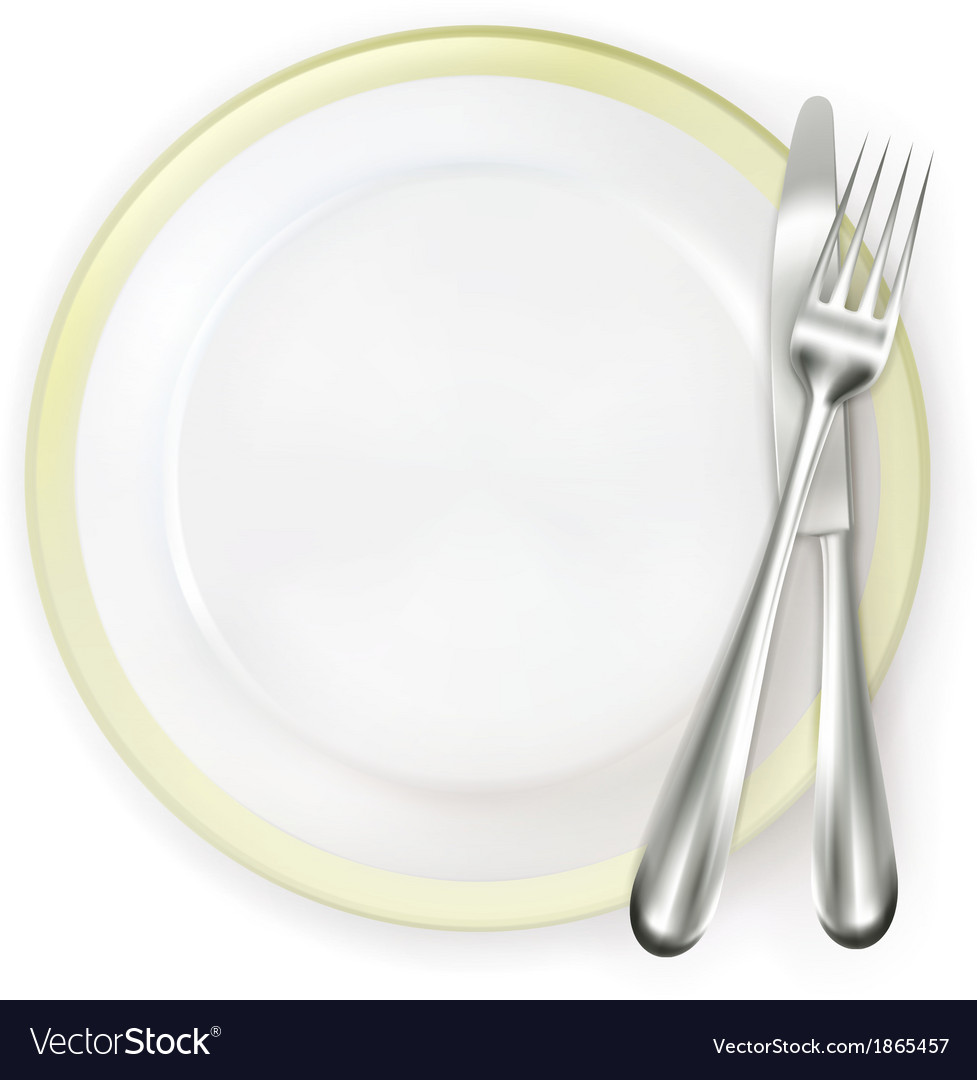 Dinner place setting vector | Price: 1 Credit (USD $1)