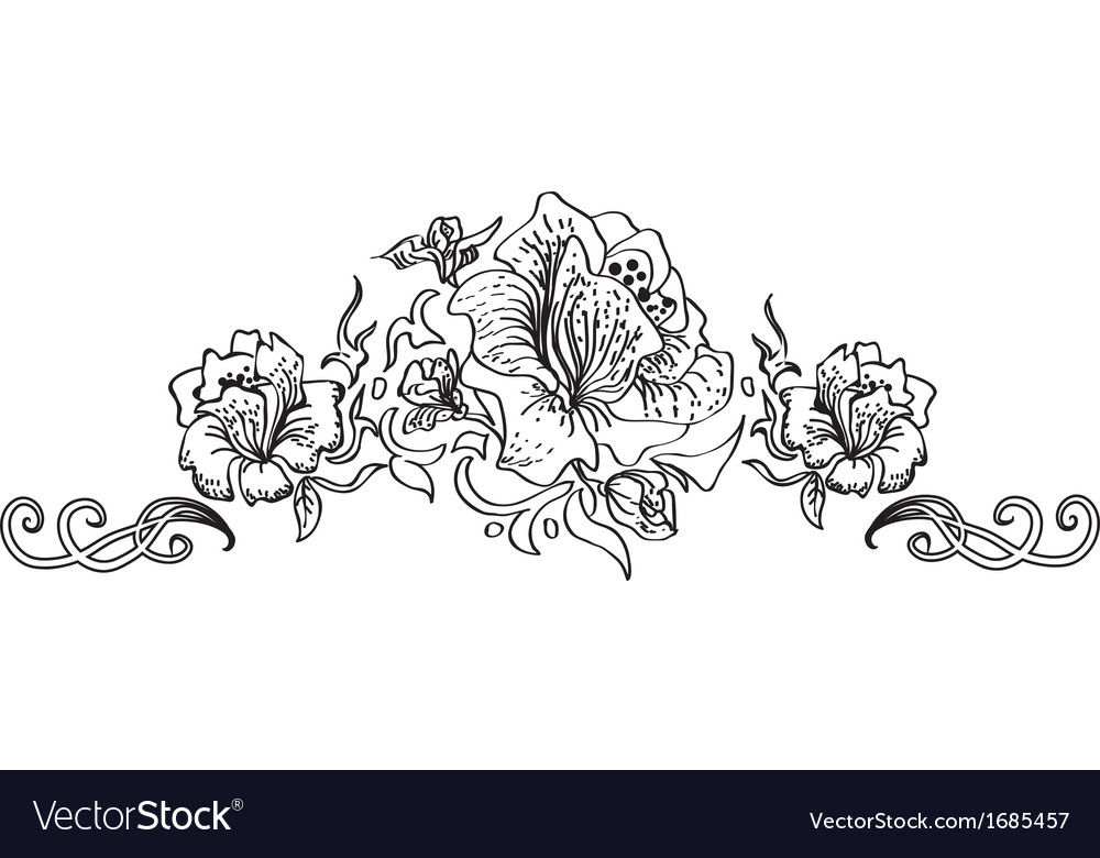 Flower style ornament vector | Price: 1 Credit (USD $1)