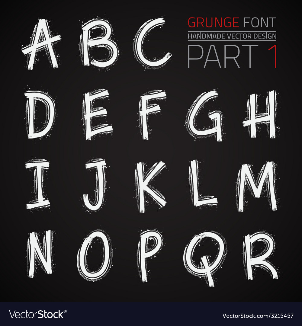 Grunge hand made font vector | Price: 1 Credit (USD $1)