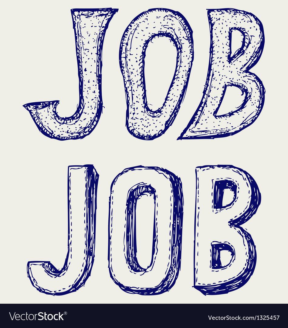 Job concept vector | Price: 1 Credit (USD $1)