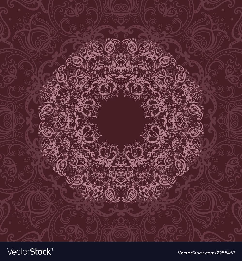 Mandala indian decorative pattern vector | Price: 1 Credit (USD $1)