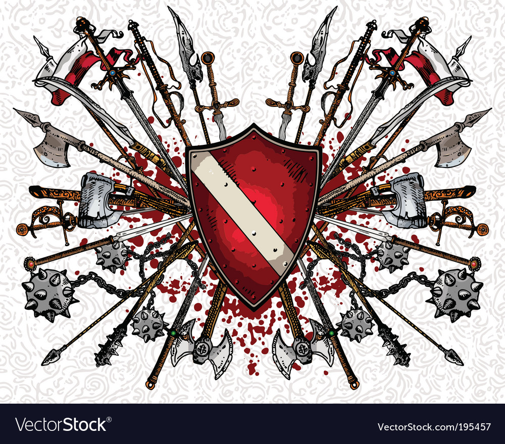 Medieval weapons vector | Price: 1 Credit (USD $1)