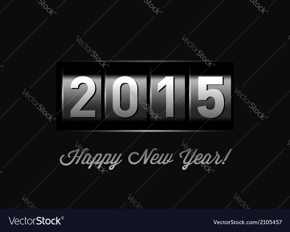 New year counter 2015 vector | Price: 1 Credit (USD $1)