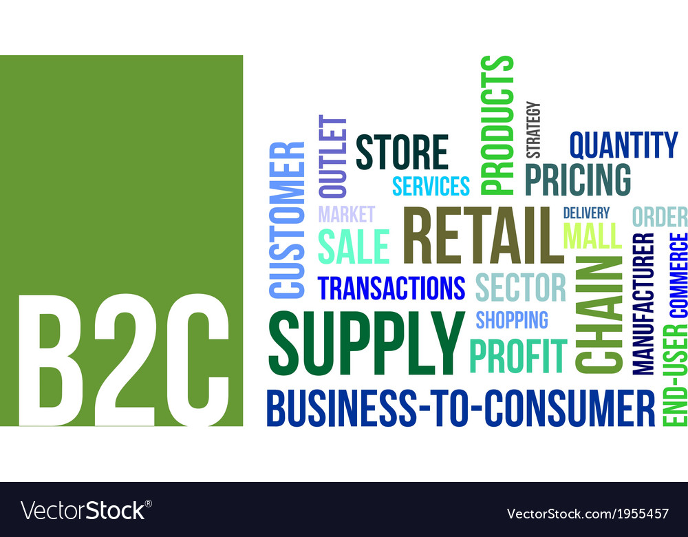 Word cloud b2c vector | Price: 1 Credit (USD $1)