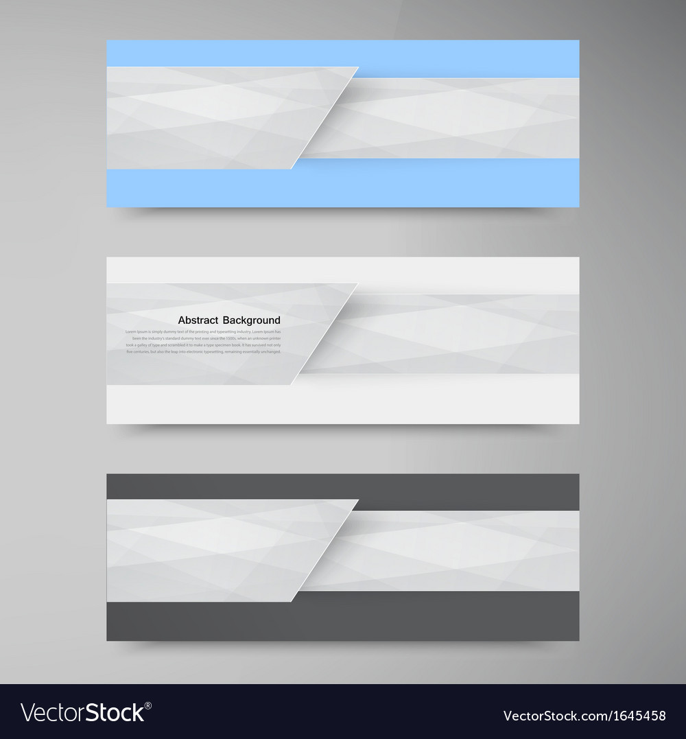 Banner background white line paper origami vector | Price: 1 Credit (USD $1)