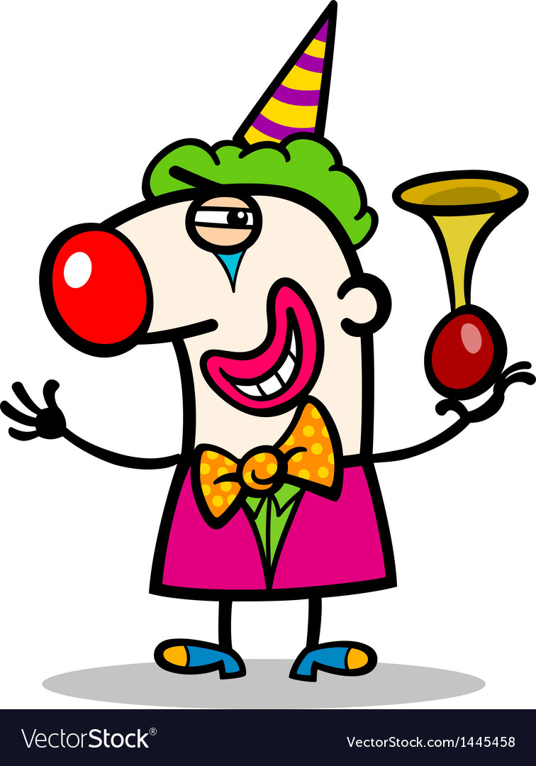 Clown performer cartoon vector | Price: 1 Credit (USD $1)