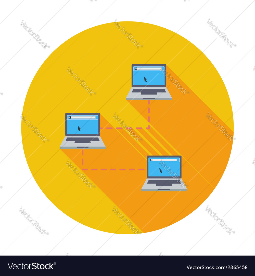 Computer network single icon vector | Price: 1 Credit (USD $1)