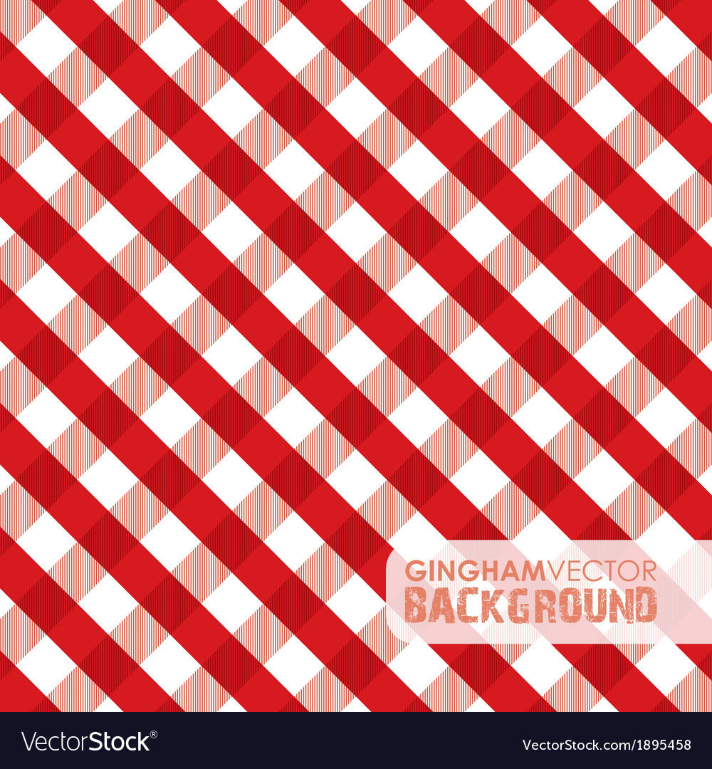 Gingham red vector | Price: 1 Credit (USD $1)