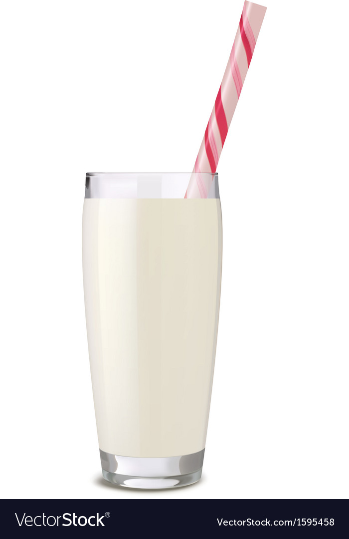 Glass of milk tube vector | Price: 1 Credit (USD $1)