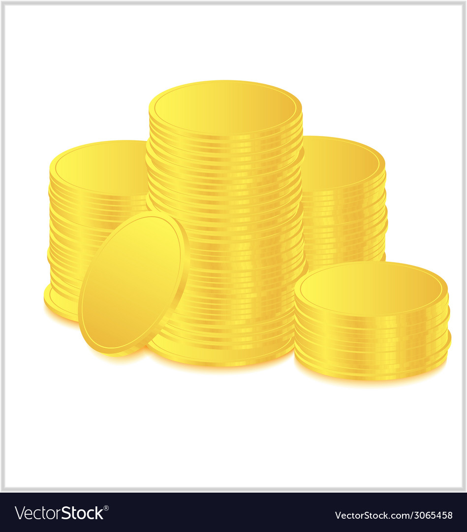 Golds coin vector | Price: 1 Credit (USD $1)