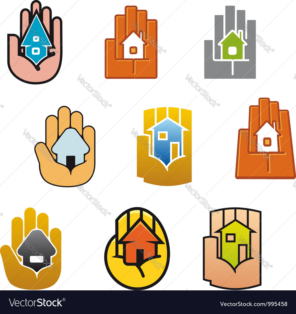 Little house in hands for real estate vector | Price: 1 Credit (USD $1)