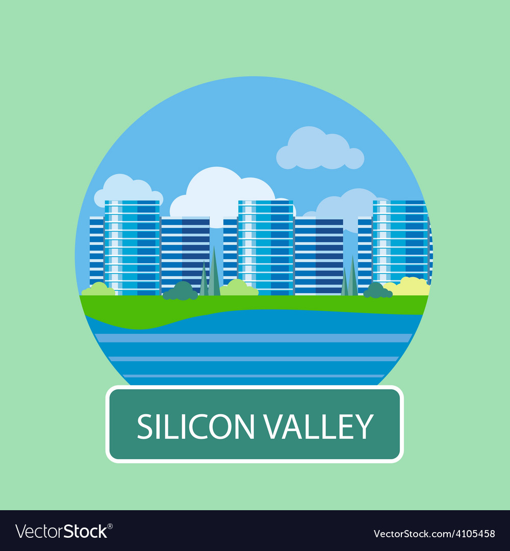 Office building in silicon valley vector | Price: 1 Credit (USD $1)