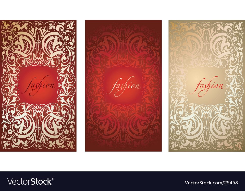 Red gold fashion plate background vector | Price: 1 Credit (USD $1)