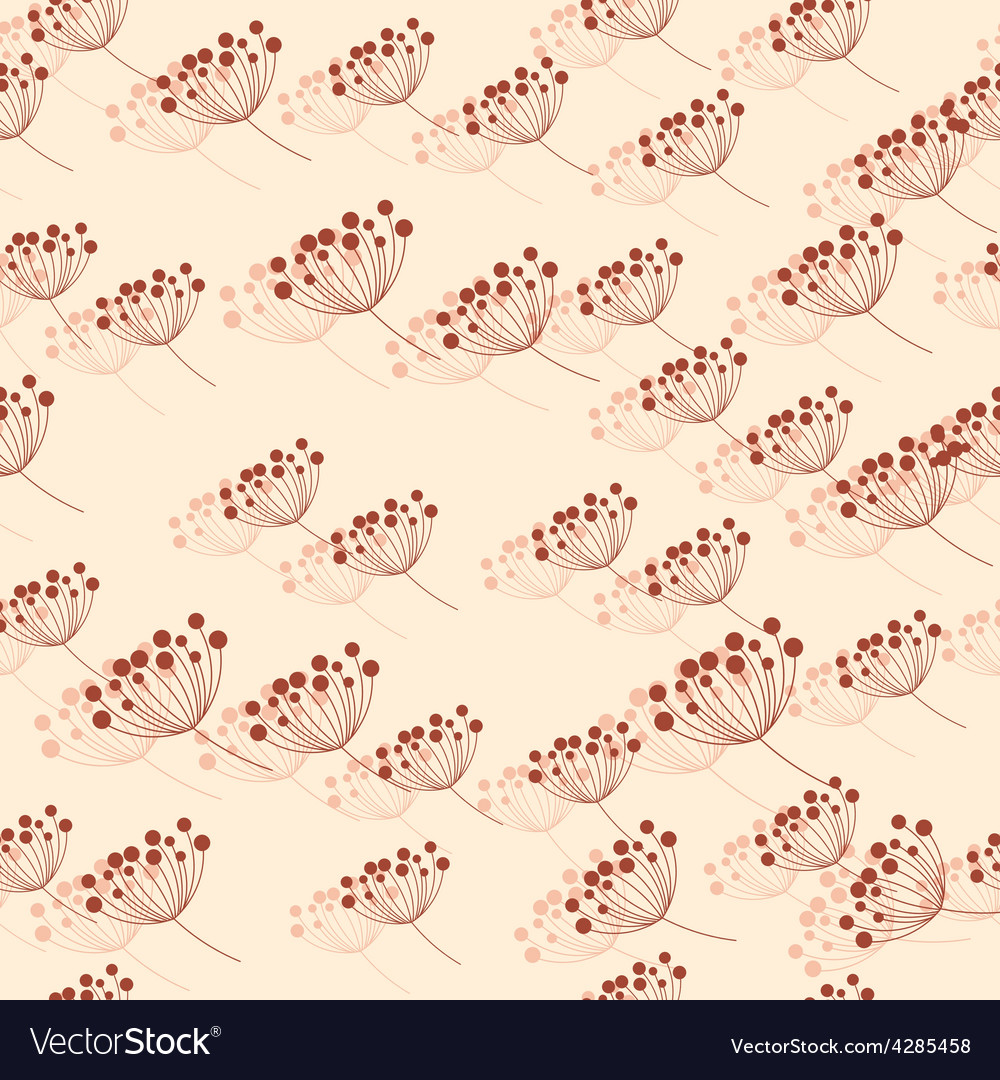 Seamless pattern with rowan berries vector | Price: 1 Credit (USD $1)