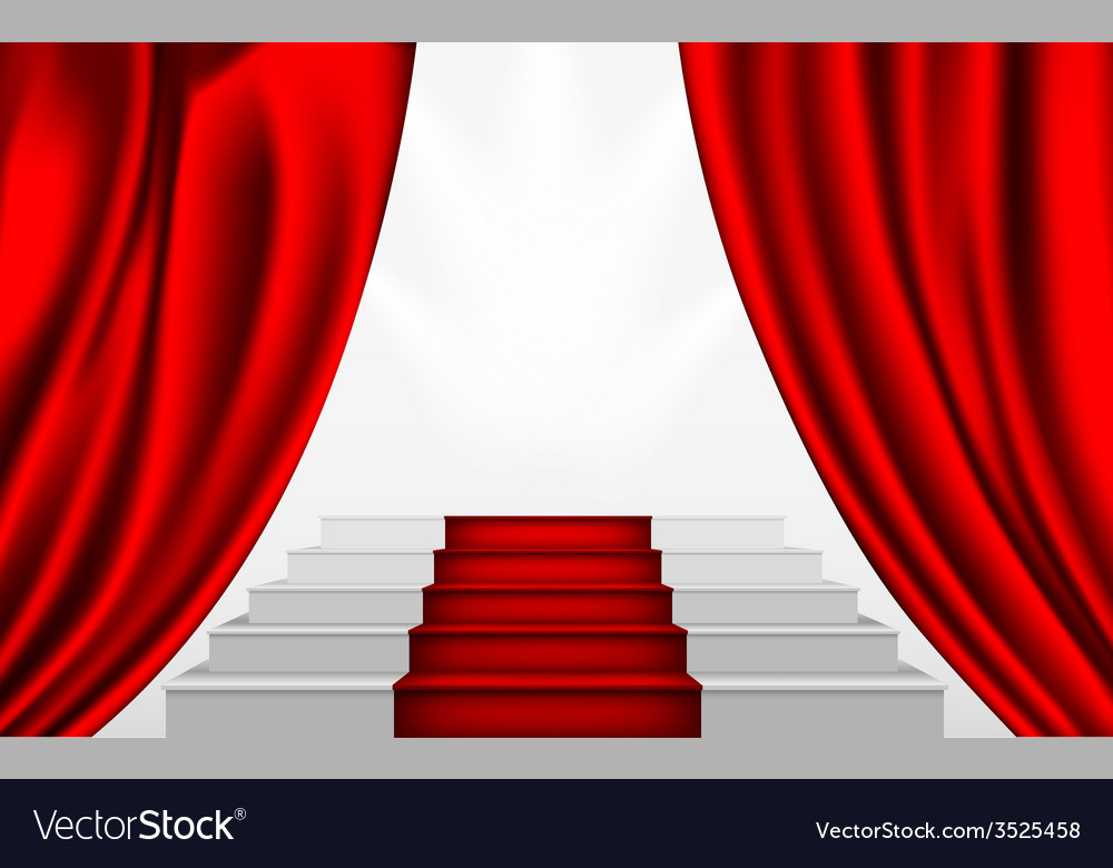 Silk curtain and the stairs to the podium vector | Price: 1 Credit (USD $1)