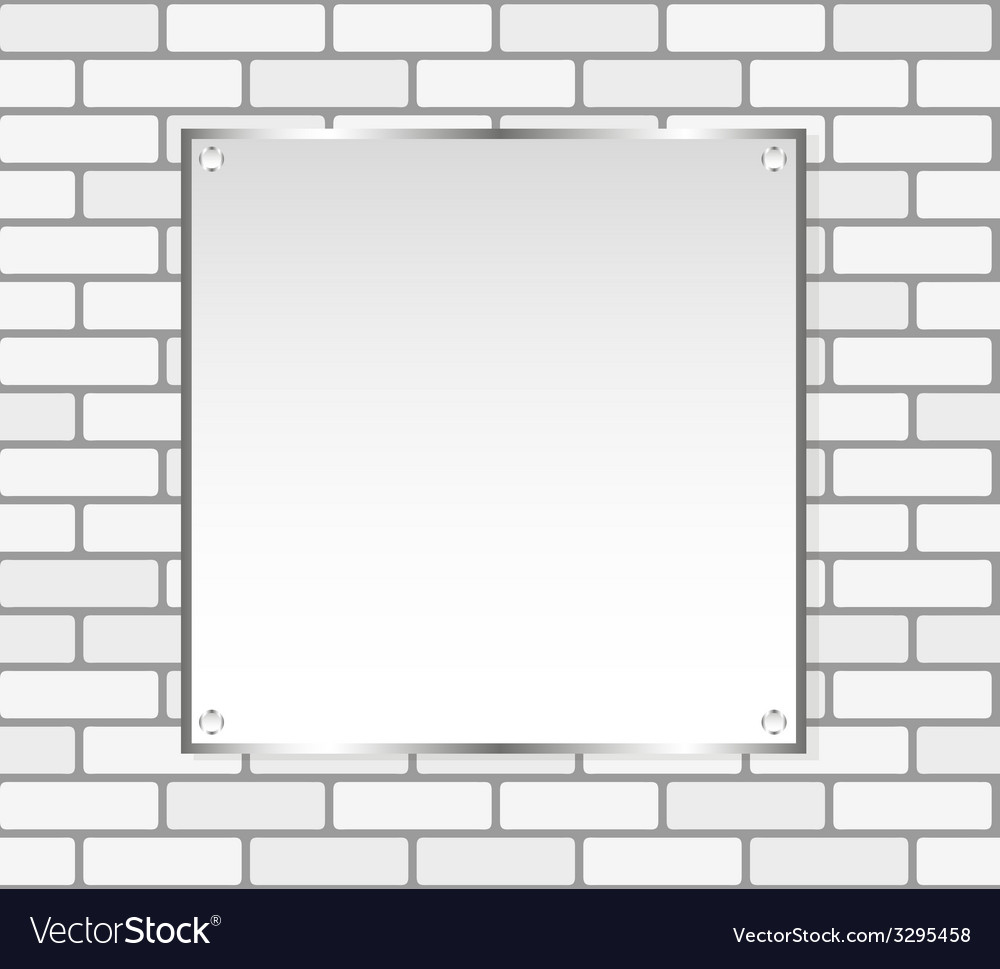 Silver frame on a white wall vector | Price: 1 Credit (USD $1)