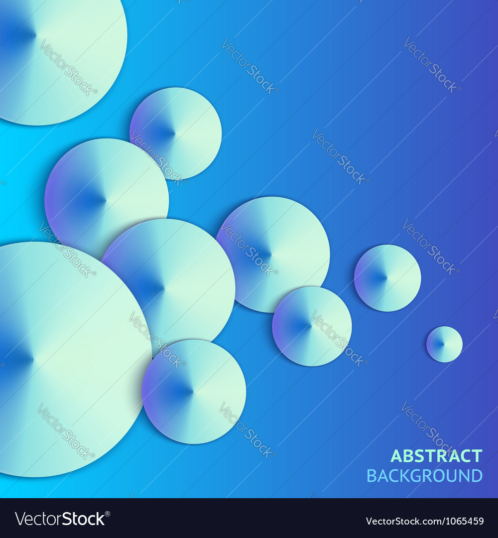 Abstract paper bubbles background with lights vector | Price: 1 Credit (USD $1)