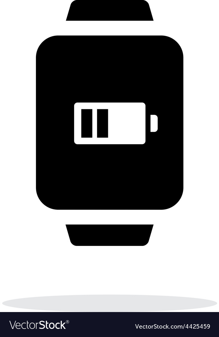 Battery charge in smart watch simple icon on white vector | Price: 1 Credit (USD $1)