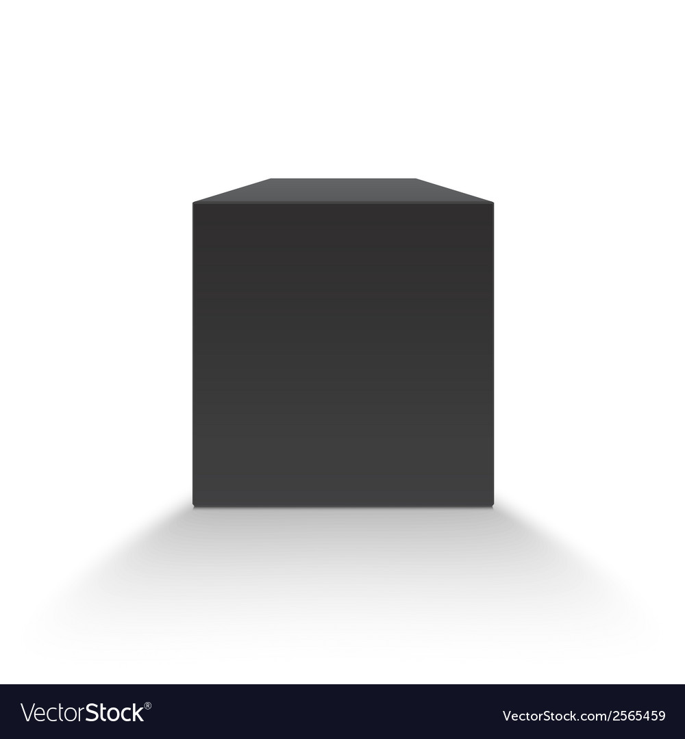 Black blank box vector | Price: 1 Credit (USD $1)