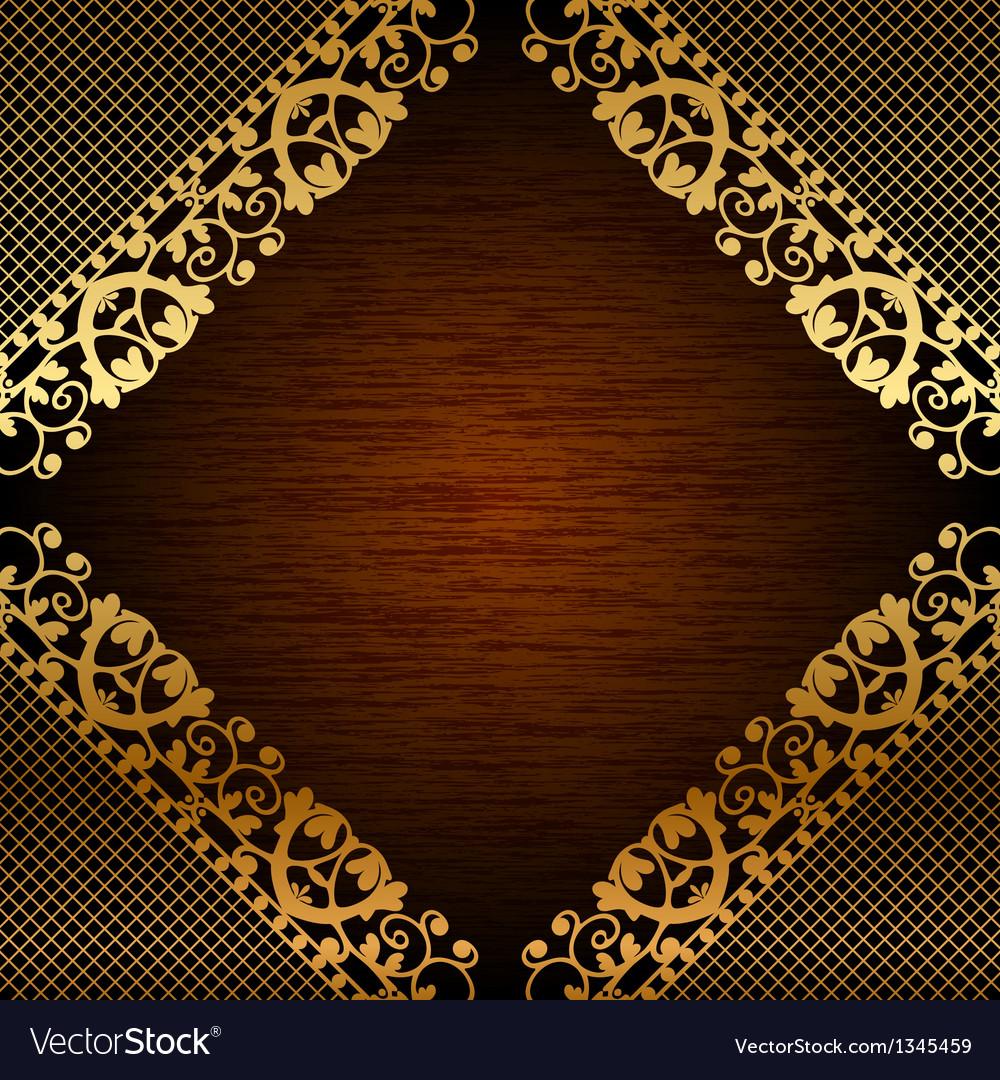 Brown ornate frame vector | Price: 1 Credit (USD $1)