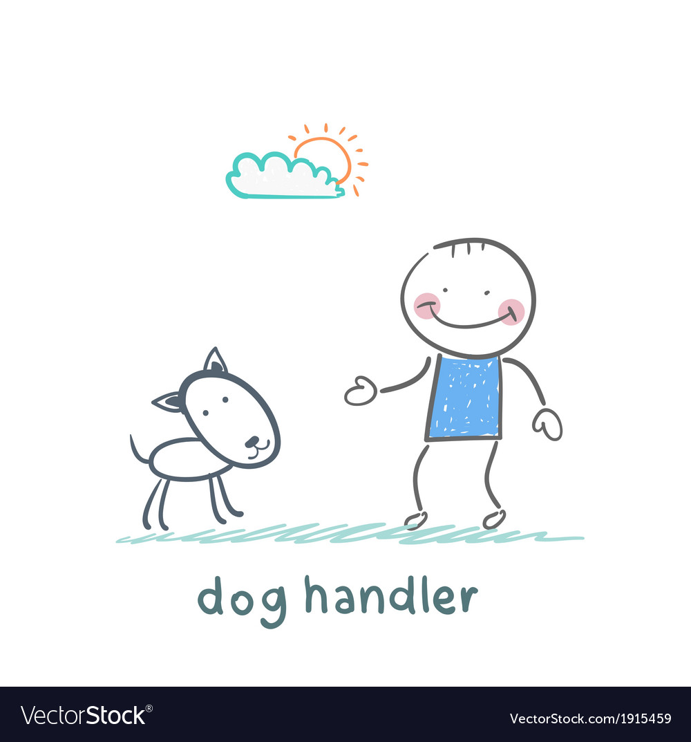 Canine training a dog vector | Price: 1 Credit (USD $1)