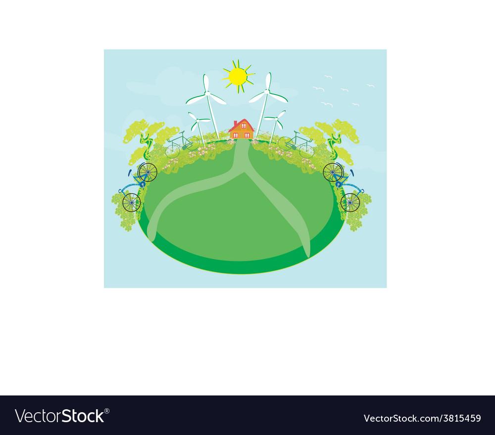 Eco farming - landscapes vector   Price: 1 Credit (USD $1)