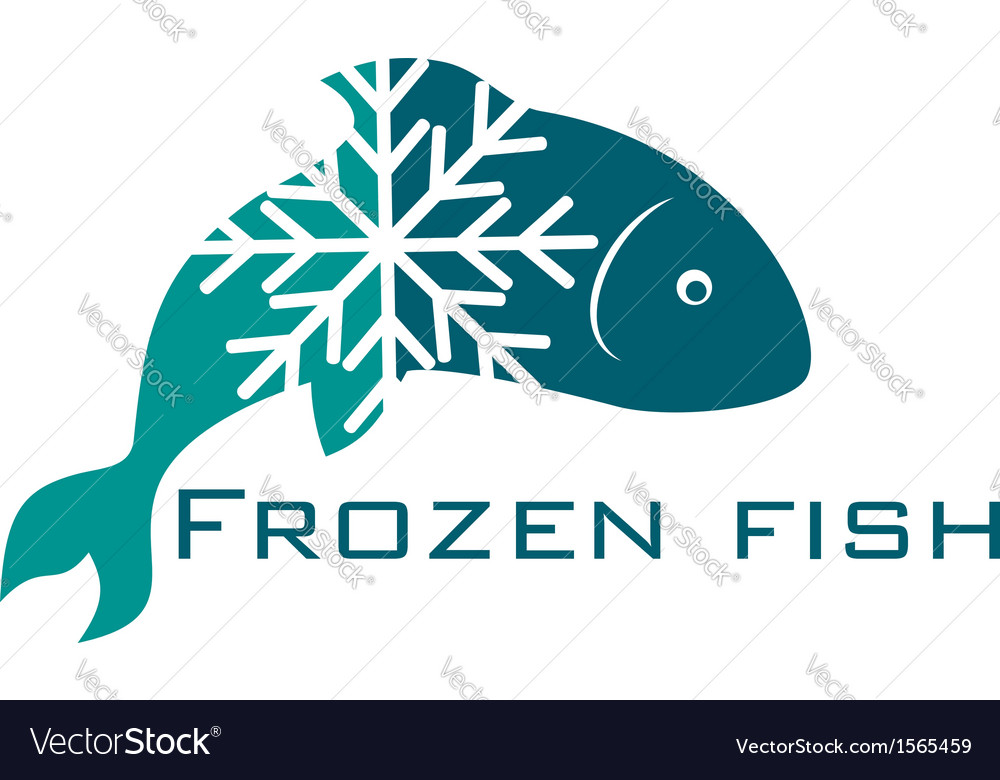 Frozen fish vector | Price: 1 Credit (USD $1)