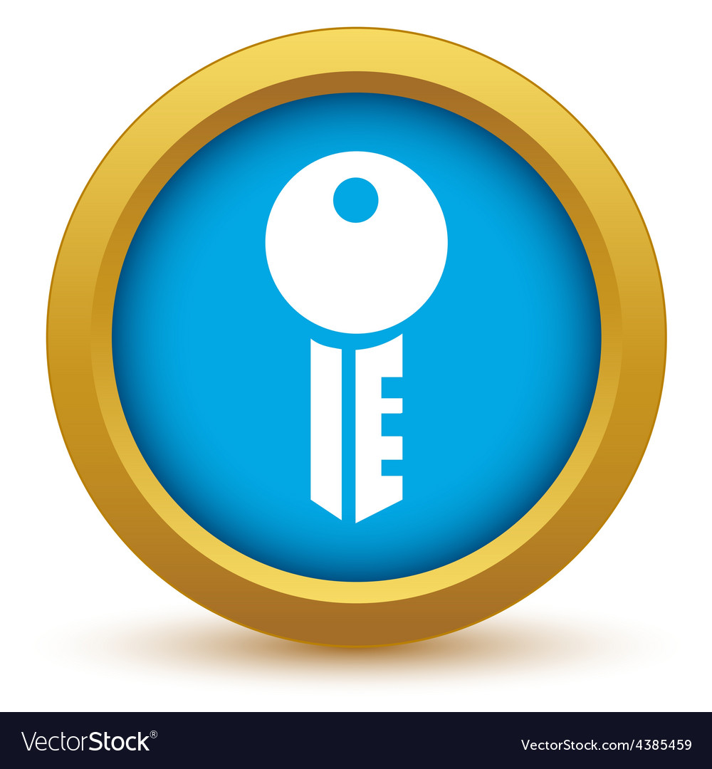 Gold key icon vector | Price: 1 Credit (USD $1)