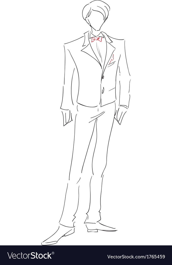 Groom sketch vector | Price: 1 Credit (USD $1)