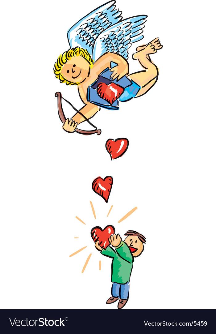 Hearts fallings vector | Price: 3 Credit (USD $3)