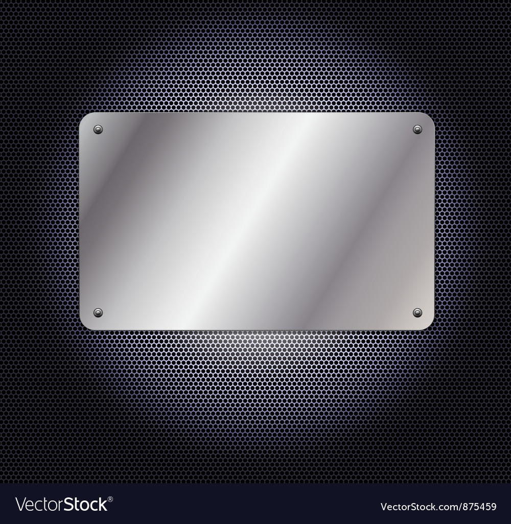 Metallic grid background with plate vector | Price: 1 Credit (USD $1)