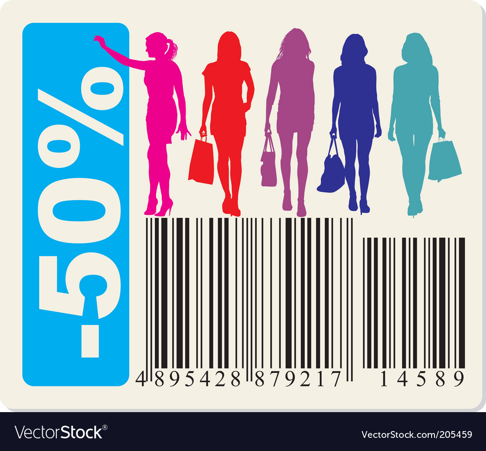 Sticker to fifty percent discount vector | Price: 1 Credit (USD $1)