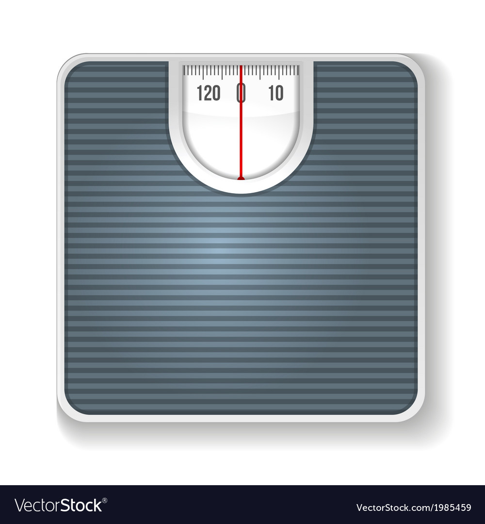 Weight scale on white background vector | Price: 1 Credit (USD $1)