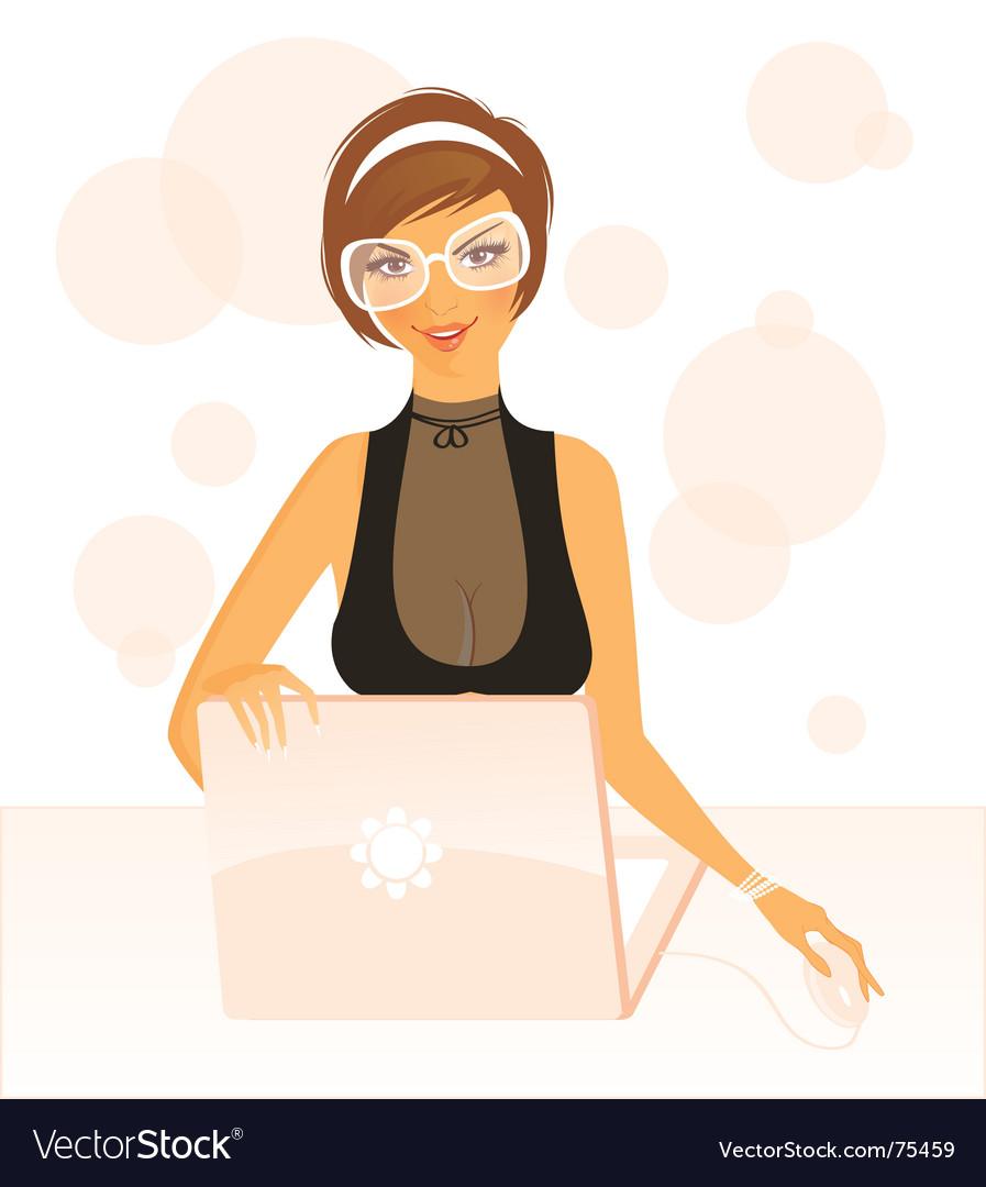 Work girl vector | Price: 3 Credit (USD $3)