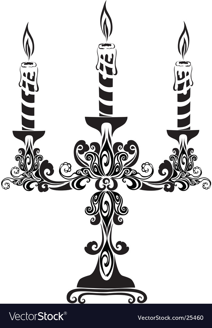 Ancient candelabrum vector | Price: 1 Credit (USD $1)