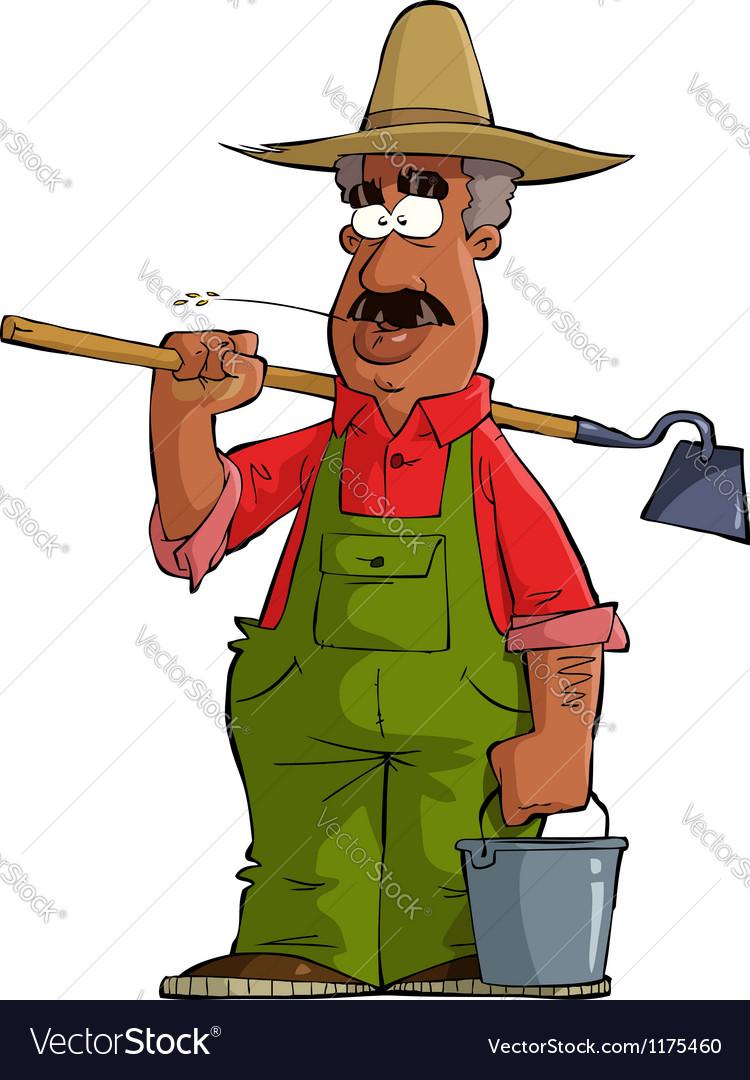 Black farmer vector | Price: 1 Credit (USD $1)
