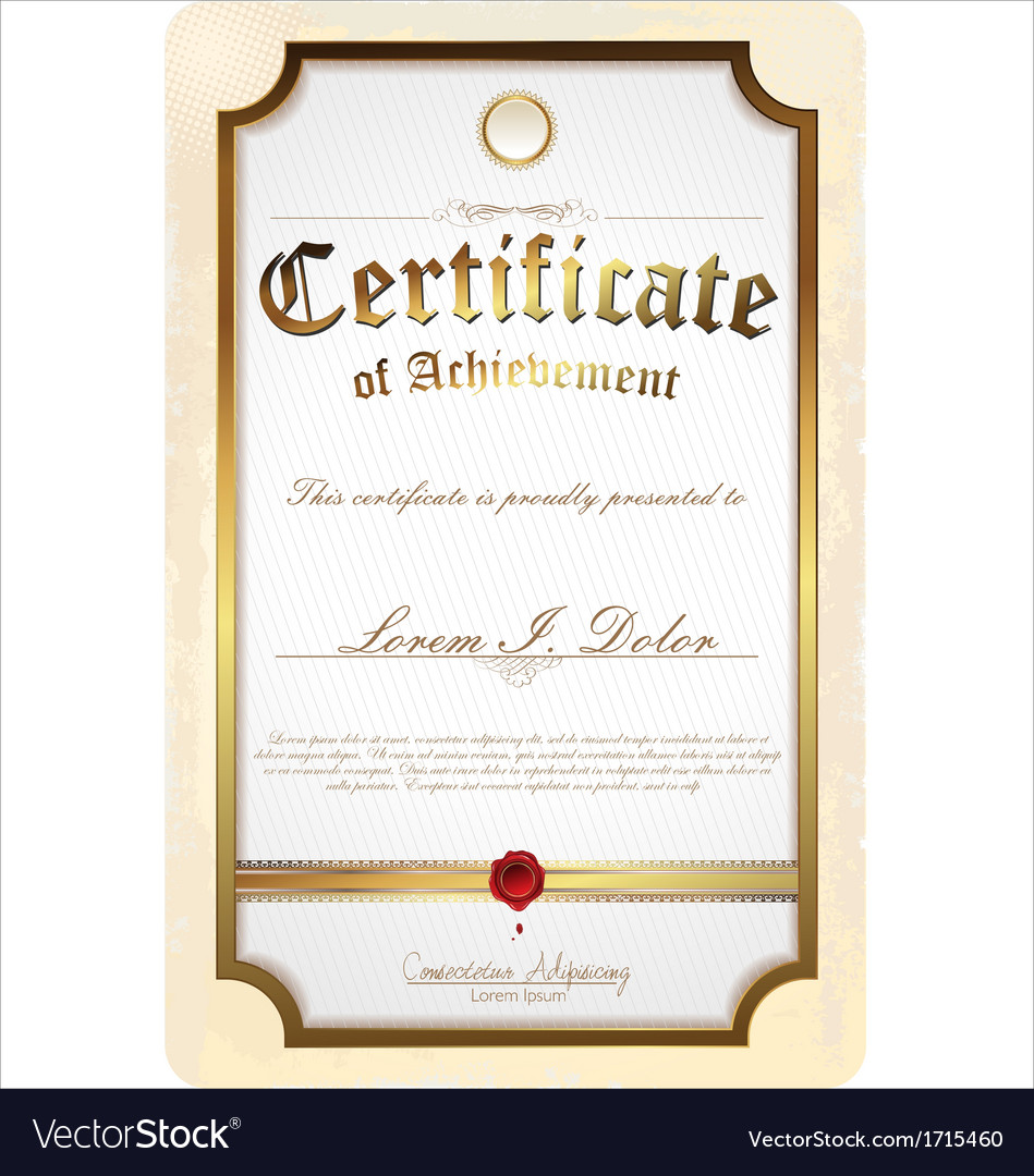 Gold detailed certificate vector | Price: 1 Credit (USD $1)