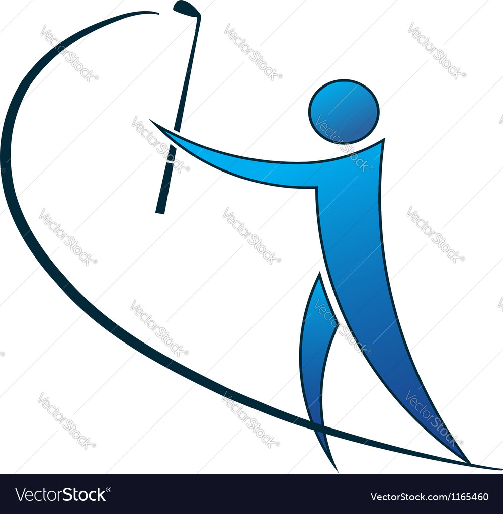 Golfer logo vector | Price: 1 Credit (USD $1)